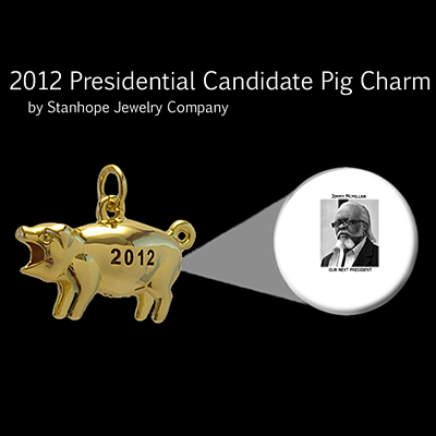 2012 Presidential Candidate Jimmy McMillan Stanhope Political Pig