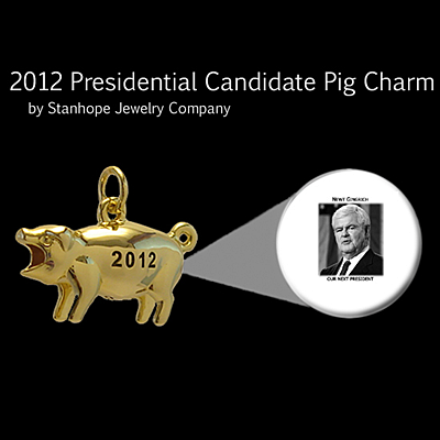 2012 Presidential Candidate Newt Gingrich Stanhope Political Pig