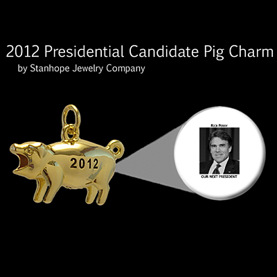 2012 Presidential Candidate Rick Perry Stanhope Political Pig