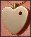 Madelyn Keepsake Brass Heart Photo Pendant & Chain
