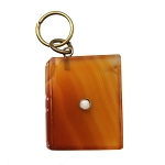 English Carnelian Agate Stanhope Book Pendant