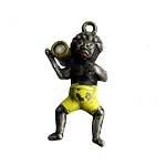 African Pickaninny Boy Stanhope Fob Charm Pendant Paris Expo 1900