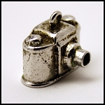 Old Sterling Silver Roll Film Camera Charm Stanhope Souvenir Gettysburg