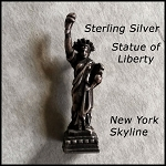 Statue of Liberty Stanhope Sterling Silver Charm