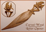 Carved Wooden Edelweiss Stanhope Bookmark
