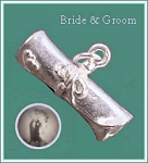 Bride & Groom Marriage Certificate Scroll Stanhope Pendant
