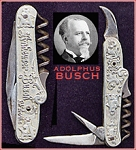 Anheuser-Busch Silver Stanhope Corkscrew Knife ca. 1899-05