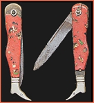 Figural Leg & Metal Boot Stanhope Pocketknife with Nude Woman Stanhope Viewer