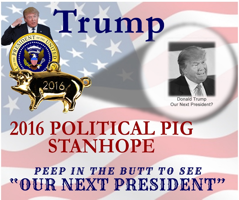 2016 US Presidential Republican Candidate Donald Trump Stanhope Political Pig
