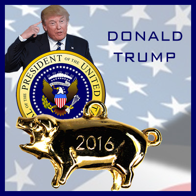 Donald Trump Political Pig Stanhope Charm