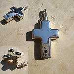 Madelyn Keepsake Sterling Funeral Cross Photo Pendant & Chain