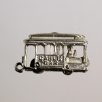 San Francisco Souvenir Cable Car Charm with Golden Gate Bridge Stanhope