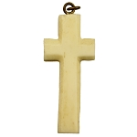 19th Century Carved Ivory Stanhope Cross Pendant