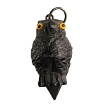 Victorian Bog Oak Owl Stanhope Antique Charm Fob - 6 views of Dublin