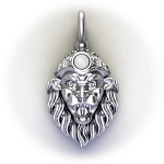 Vishnu Stanhope Pendant Necklace Narasimha Mantra of Protection Micro View