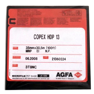 Agfa Copex 35mm x 100' High Contrast Document Roll Film