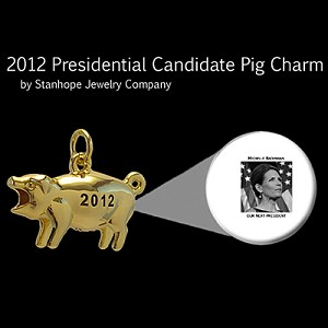 2012 Presidential Candidate Bachmann Stanhope Political Pig