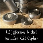 Hollow Coin Jefferson Nickel with Concealed Ivanovich Abel KGB Spy Cipher