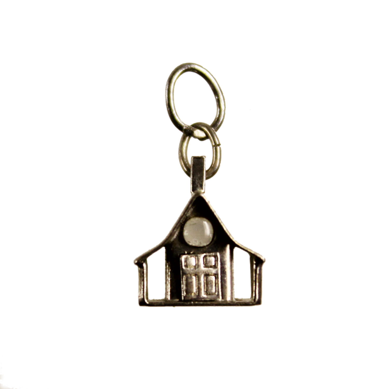Vintage Sterling Silver House Charm - God Bless Our Home