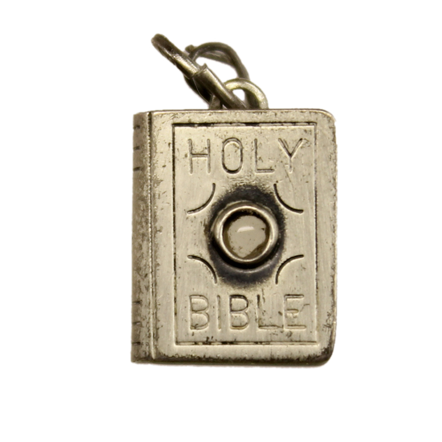 Sterling Silver Stanhope Bible Charm by Beau - View of the Ten Commandments