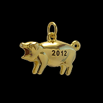2012 US Presidential Pig Collectors Set of 13 Presidential Candidate Gold Pig Fobs