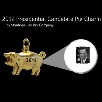 2012 Presidential Candidate Mitt Romney Stanhope Political Pig