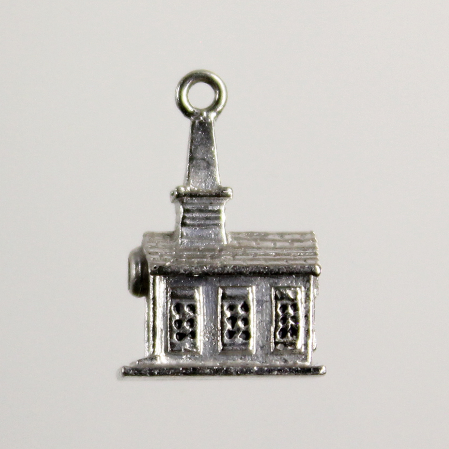 Sterling Silver Vintage Church PewThrown Charm