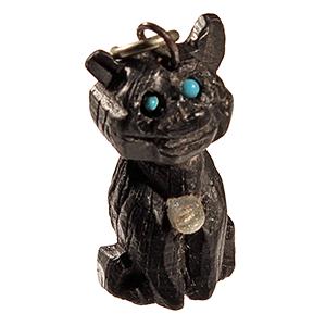 ANT-141217-13 Bog Oak Stanhope Cat Charm
