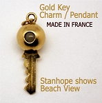 Gold Key Charm with Stanhope View of the Beach