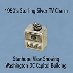 Sterling Silver Washington DC US Capitol Television Charm