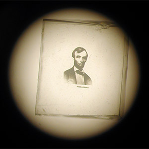 Rare Microphotograph of Abraham Lincoln