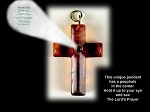 Baltic Amber Cross Pendant with Choice of Prayer in Peep