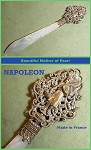 Filigree Mother of Pearl Stanhope Letter Opener