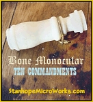 Bone Monocular Charm 10 Commandments Stanhope Pendant