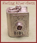 Bible Stanhope Charm - Sterling Silver