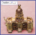US Capitol Vintage 18 ct Gold Stanhope Charm