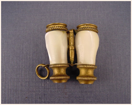 French Pearl Binocular Dual Napoleon Stanhopes