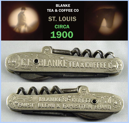 Blanke Tea & Coffee Stanhope Knife St. Louis circa 1900