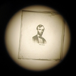 Abraham Lincoln Microphoto Square -