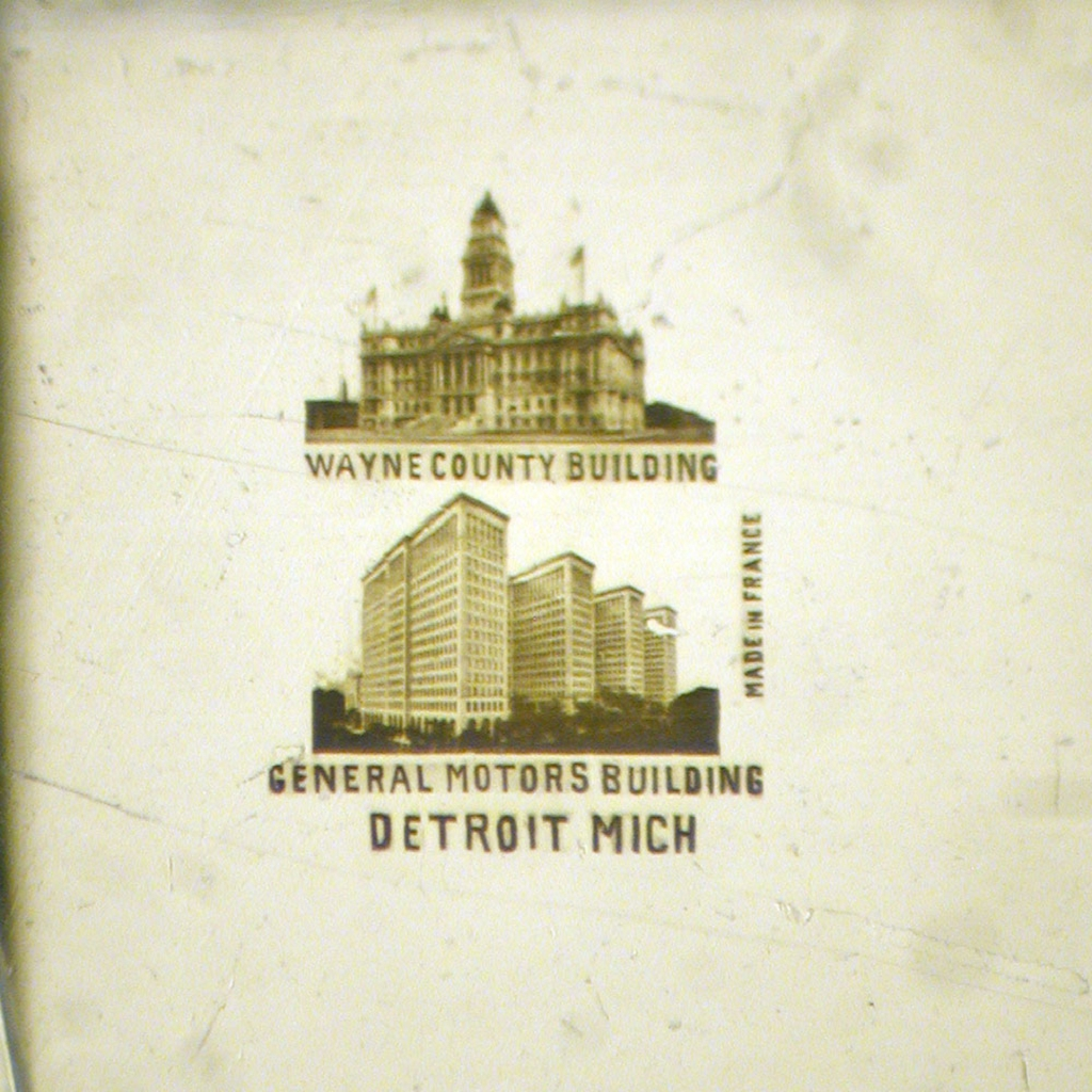 General Motors Building and Wayne County Building - Detroit, MI with 2 Views