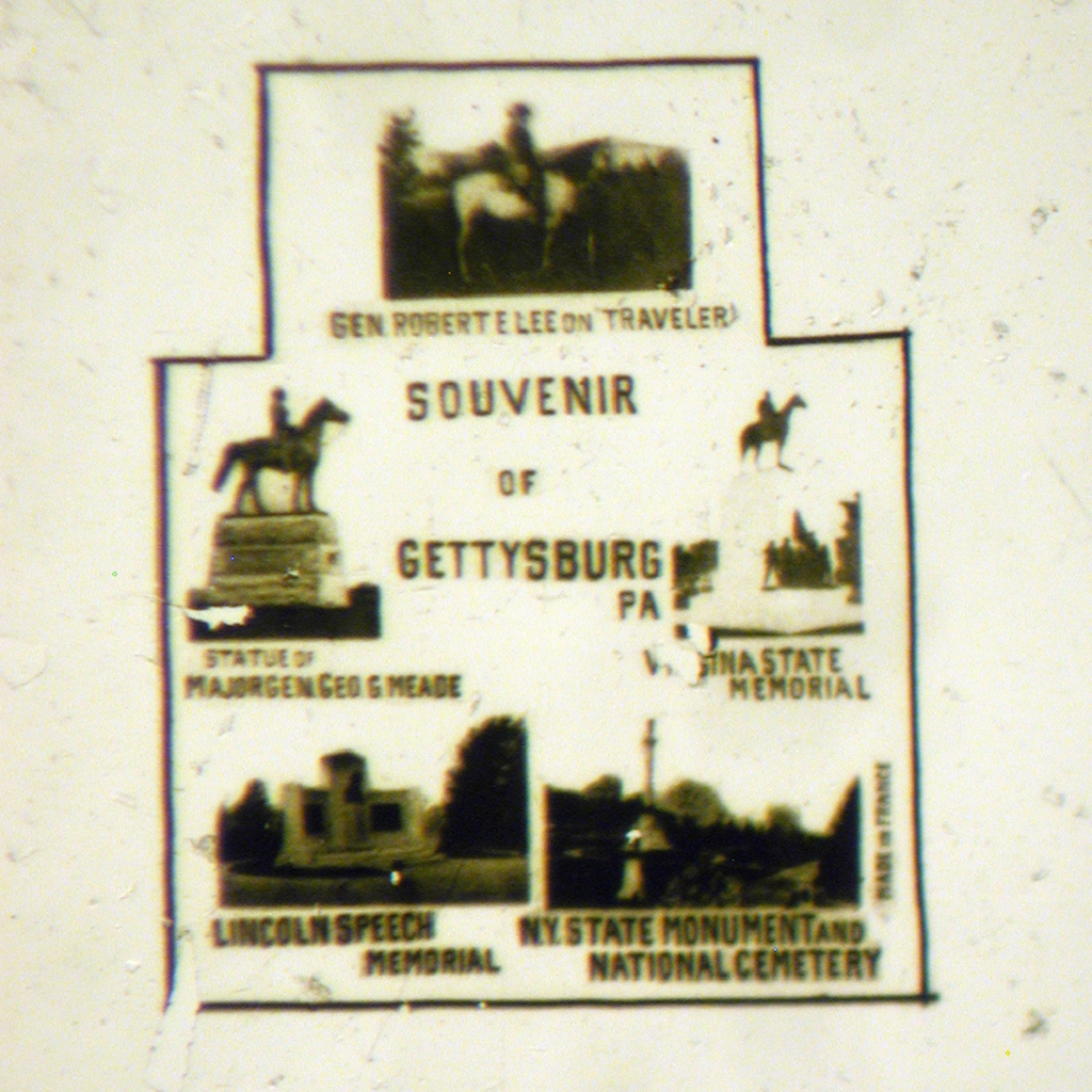 Souvenir of Gettysburg, PA with 5 Views