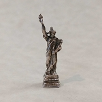 Sterling Silver Figural Statue of Liberty Charm with New York Stanhope Viewer