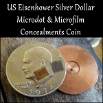 Hollow Spy Coin Eisenhower Dollar with Concealed Microfilm Military Map Vietnam 1971