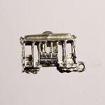 Sterling San Francisco Souvenir Cable Car Charm with Golden Gate Bridge Stanhope