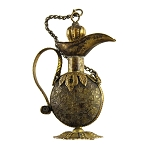 Brass Gilt Victorian Chatelaine Perfume Pitcher
