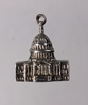 Early Sterling Silver Washington US Capitol Charm Stanhope