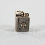 Beau Sterling Figural Holy Bible Charm Pendant with Stanhope Viewer