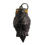 HB140 Stanhope Owl Carved Bog Oak