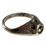 Watermelon Tourmaline Crystal Rhinestone Erotic Nude Stanhope Ring