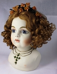 Porcelain Bisque French Style Bru Fashion Doll with Rochard Stanhope Jeweled Necklace & Earrings